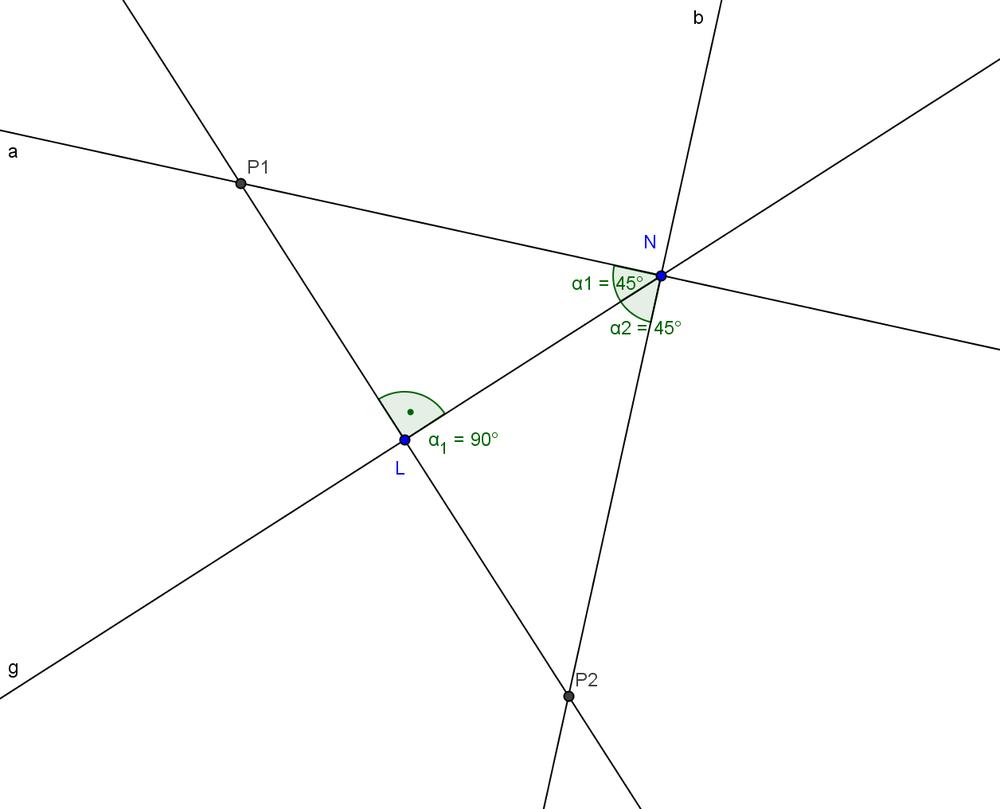 Das Lot von einem Punkt auf eine Gerade - Geometrie-Wiki